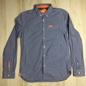 Superdry Blue White Houndstooth Shirt